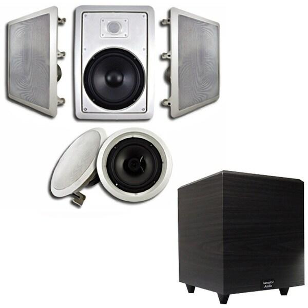 Shop Acoustic Audio Ht 85 Wall Amp Ceiling 8 Quot Speakers Amp 6 5