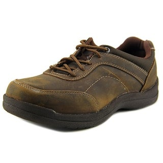 Propet Gino Men Round Toe Leather Brown Oxford