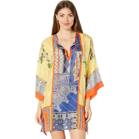 Johnny Was Womens Arden Multi Color Tunic Loose Fit