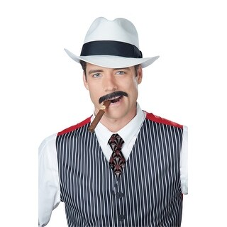 California Costumes Gangster Stache (Brown) - Brown