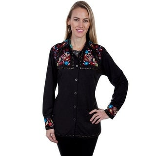 Scully Western Shirt Womens Long Sleeve Studded Button Front HC298
