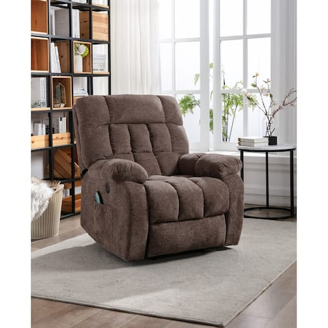 Electric lift recliner with heat therapy and massage, suitable for the elderly, heavy recliner, with modern padded arms and back