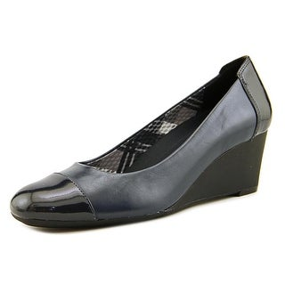 Naturalizer Necile Women  Open Toe Leather Blue Wedge Heel