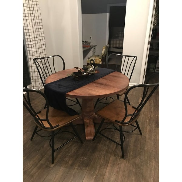 Shop Copper Grove Halle Set Of 2 Wood And Metal Vintage Industrial Dining  Chair   Black   Free Shipping Today   Overstock.com   20543534
