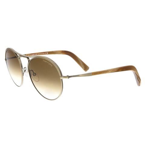 f8dc55b608a Tom Ford FT0449 S 33F Jessie Bronze Brown Aviator Sunglasses - 54-18