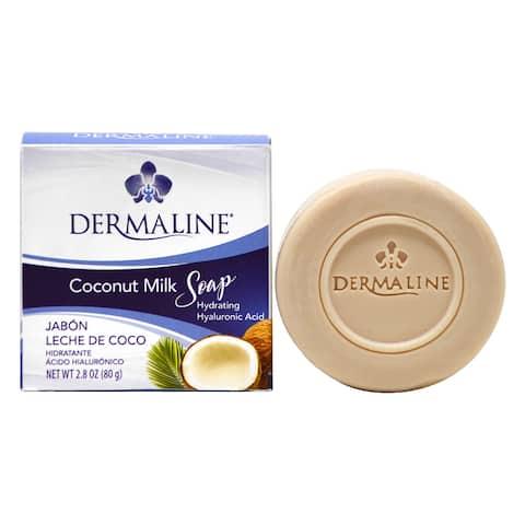 Dermaline Coconut Milk Hydrating Soap with Hyaluronic Acid 2.8oz