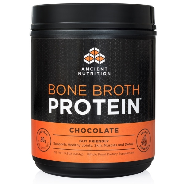 Ancient Nutrition Bone Broth Protein Powder - Chocolate - 20 servings | Gut Friendly