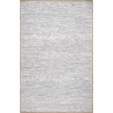 nuLOOM Sabby Hand Woven Leather Flatweave Area Rug