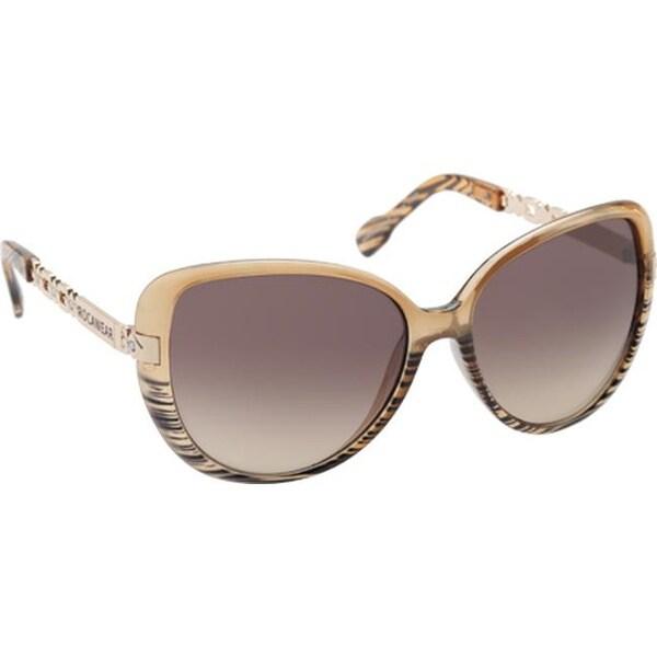 RocaWear Women's R3198 Butterfly Sunglasses Tan/Grey/Gradient Brown - US Women's One Size (Size None)