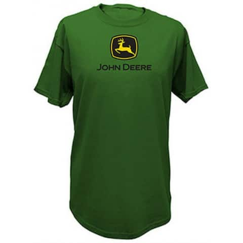 John Deere 13000000GR05 Men's Short Sleeved Tee Shirt, Large, Green
