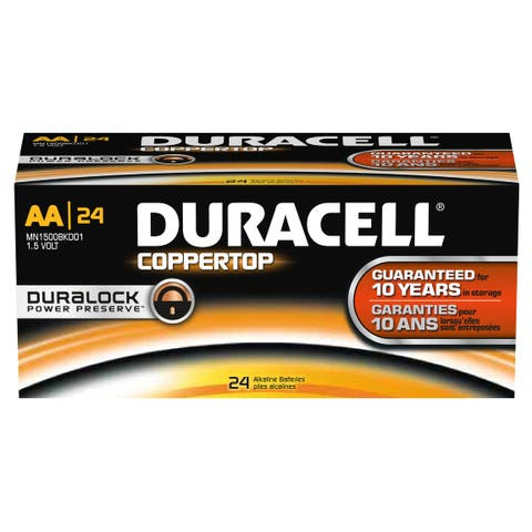 Duracell DMN1500BKD Coppertop AA Battery, Bulk (Package of 24)