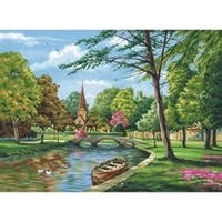 """Church By The River - Paint By Number Kit Artist Canvas Series 11""""X14"""""""