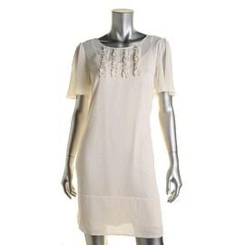 BCBGeneration Womens Chiffon Polka Dot Wear to Work Dress