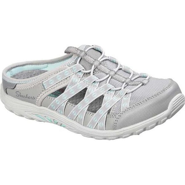 0ca0ea6bb913 Skechers Women  x27 s Relaxed Fit Reggae Fest Marlin Mule Sandal Gray