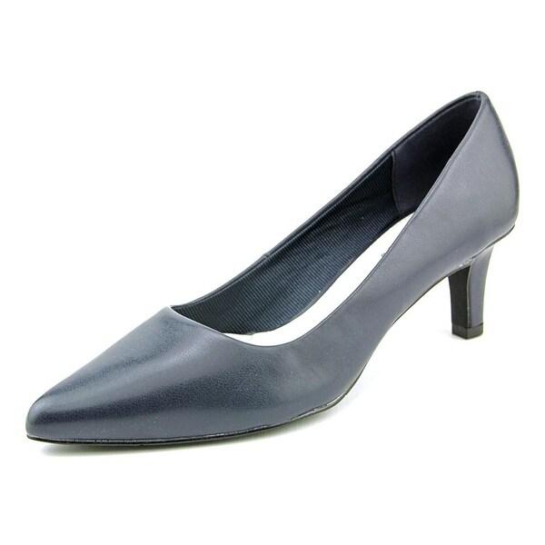 Easy Street Pointe Women N/S Pointed Toe Synthetic Blue Heels