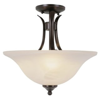 Trans Globe Lighting 9286 2 Light Down Lighting Semi Flush Ceiling Fixture from the Contemporary Collection