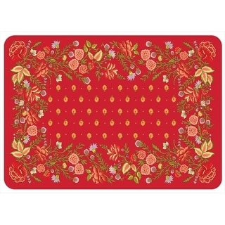 204911242231 Favenay Mat in Red - 1.83 ft. x 2.58 ft.