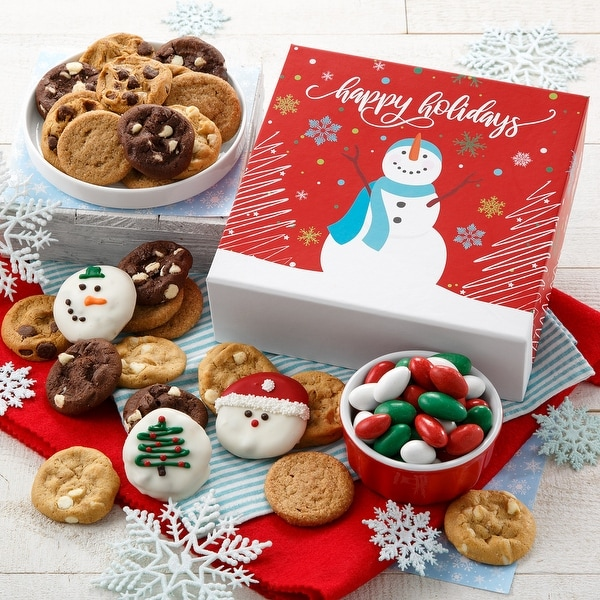 Mrs. Fields Holiday Snowman Bites Box. Opens flyout.