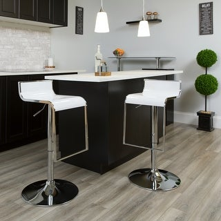 Link to Height-adjustable Chrome Drop-frame Bar Stool Similar Items in Dining Room & Bar Furniture