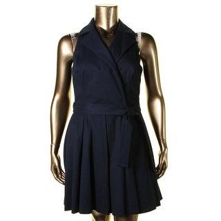 Lauren Ralph Lauren Womens Dexas Casual Dress Waffle Pique Sleeveless - 10