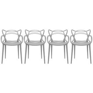 95b13522d171 2xhome Set of 4 Modern Contemporary Plastic Stackable Design Masters Chair  Dining Arm Chairs Outdoor Living. Quick View. Sale ...