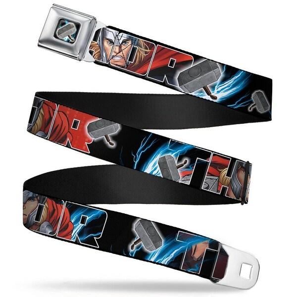 Marvel Avengers Thor'S Hammer Full Color Thor Poses Hammer Webbing Seatbelt Seatbelt Belt