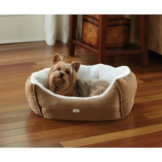 Animal PlanetA¢ 1647715 Micro Suede Plush Pet Bed, Assorted Colors, Small