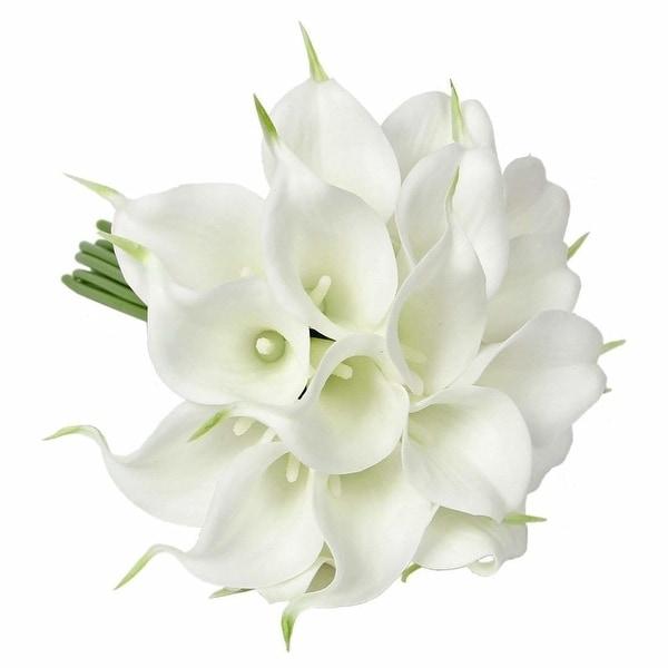10x Artificial Fake Flower Bouquet Tulips Bedroom Home Bridal Wedding Silk Decor