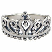 Women's Sterling Silver Crown Ring