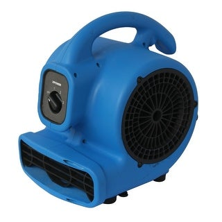 XPOWER P-80A 1/8 HP, 500 CFM, 3 Speed Mini Air Mover, Dryer, Fan, Blower with Built-in Power Outlets - Blue
