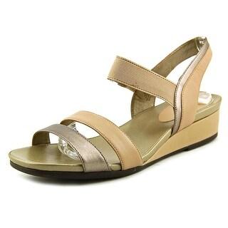 Easy Spirit e360 Bandra Women Open Toe Leather Nude Sandals