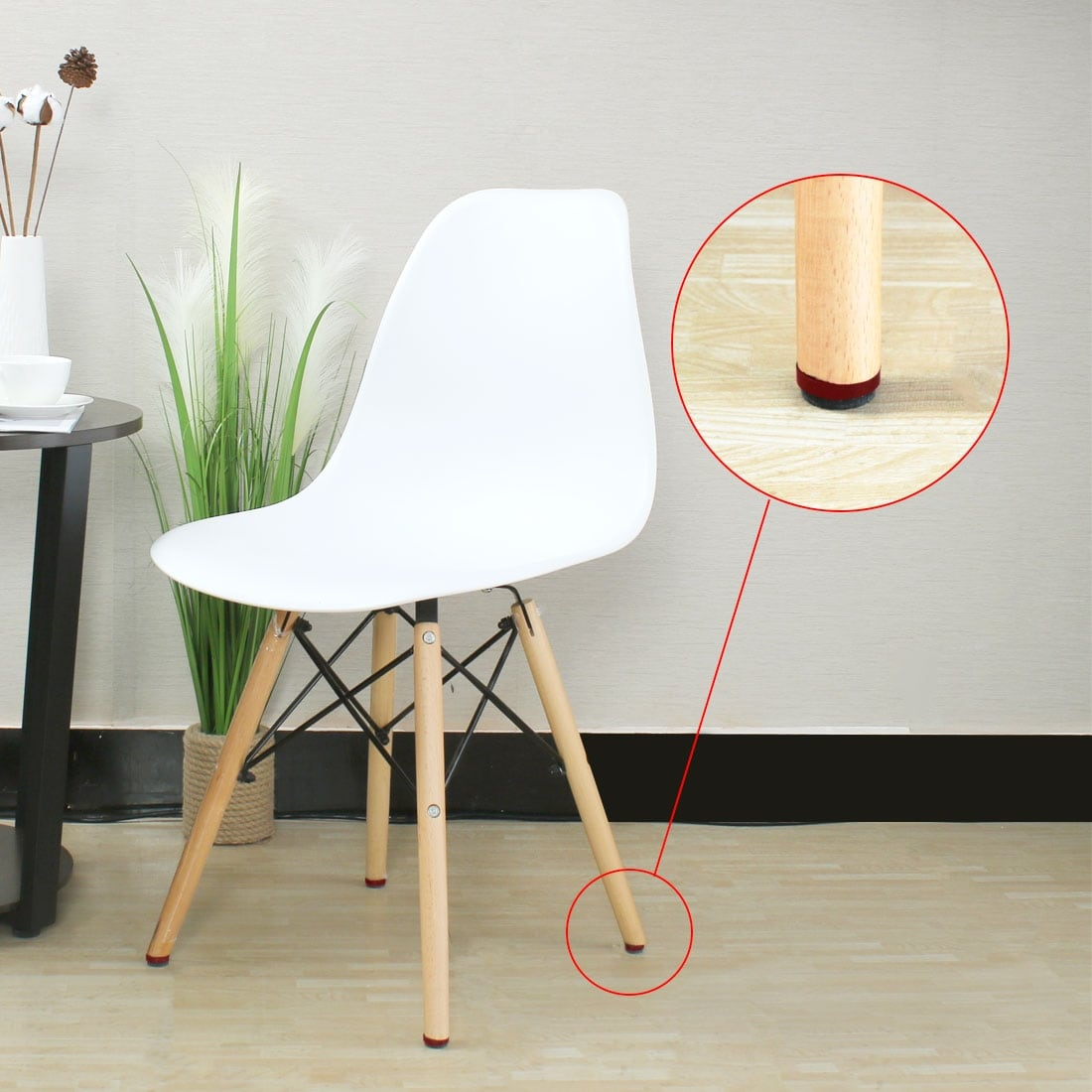 Pro Metal Furniture Glider Chair Glides Felt Pads With Screw 18mm 18 MM