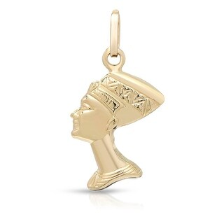 Mcs Jewelry Inc 14 KARAT YELLOW GOLD NEFERTITI PENDANT CHARM