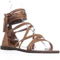XOXO Cierra Zip Up Gladiator Sandals, Tan - 7 us / 38 eu