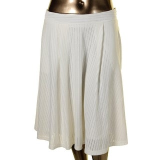 City Chic Womens Plus A-Line Skirt Open Stitch Pleated