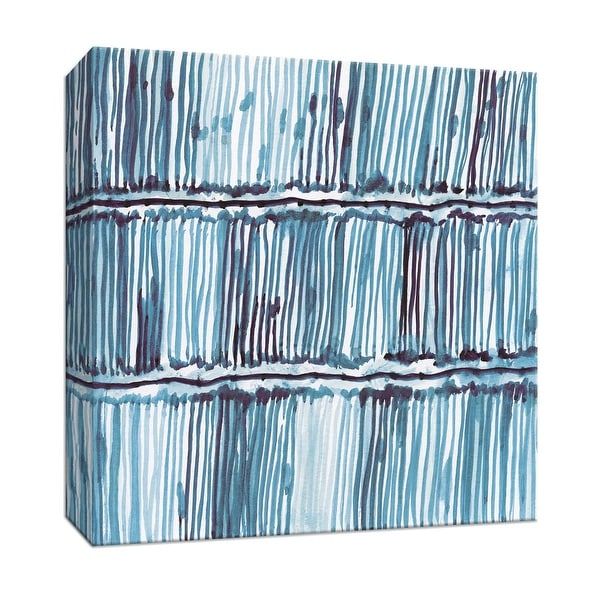"""PTM Images 9-147807 PTM Canvas Collection 12"""" x 12"""" - """"Bold Blue III"""" Giclee Patterns and Designs Art Print on Canvas"""