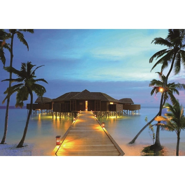 Paradise Beach: Shop LED Lighted Tropical Paradise Island Beach Scene