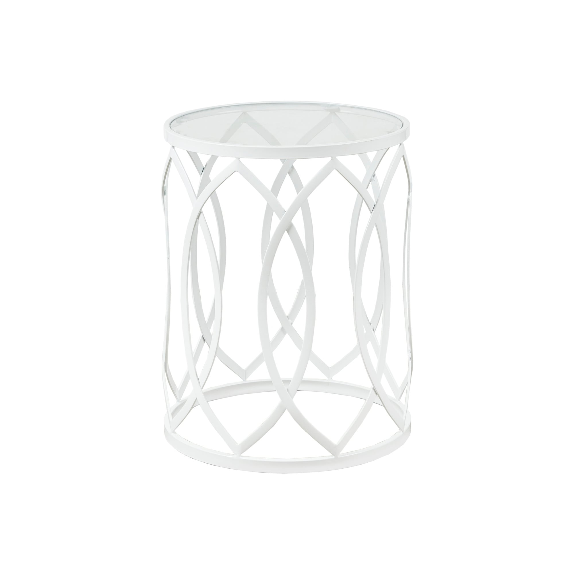 Picture of: Madison Park Coen Metal Eyelet Accent Drum Table Overstock 11320961
