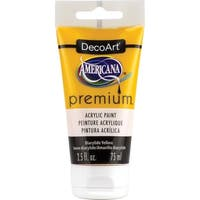Americana Premium Acrylic Paint Tube 2.5Oz-Diarylide Yellow