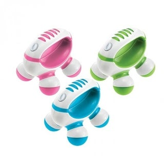 Homedics PM-50 Hand Held Mini Massager with Hand Grip, Battery Operated (Color May Vary)