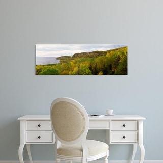 Easy Art Prints Panoramic Images's 'Lake in autumn, Lake Superior, Minnesota, USA' Premium Canvas Art