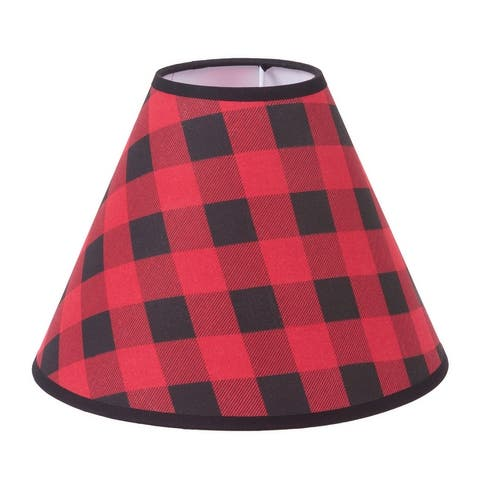Black and Red Plaid Lamp Shade