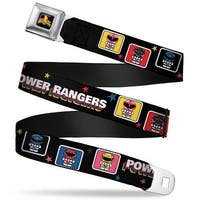 Power Rangers Logo Full Color Power Rangers Chibi Blocks W Stars Webbing Seatbelt Belt