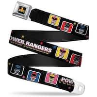 Power Rangers Logo Full Color Power Rangers Chibi Blocks W Stars Webbing Seatbelt Belt