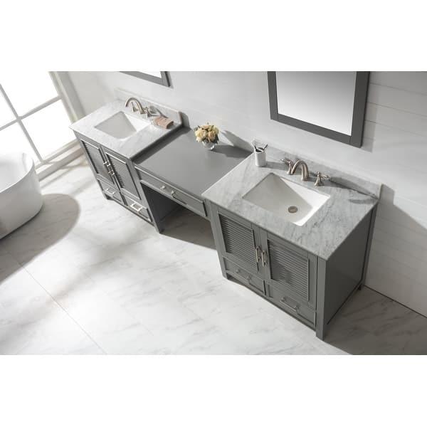 Estate 102 Double Sink Bathroom Vanity Modular Set In Gray Overstock 32184921