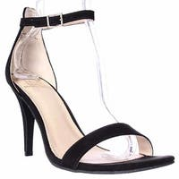 MG35 Blaire Ankle Strap Dress Sandals, Black