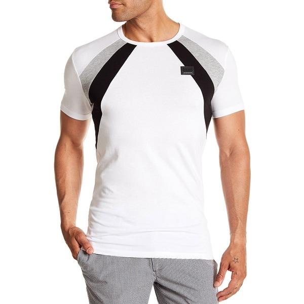 ae129e975dd Shop Antony Morato Men s Colorblock T-Shirt Small White Jersey Tee - Free  Shipping Today - Overstock - 26271825