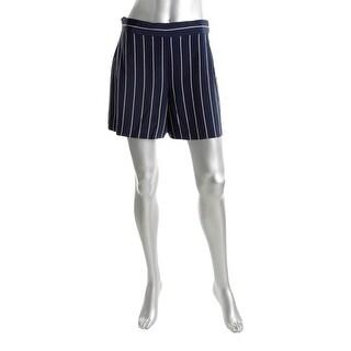 Polo Ralph Lauren Womens Dress Shorts Silk Striped Navy 12