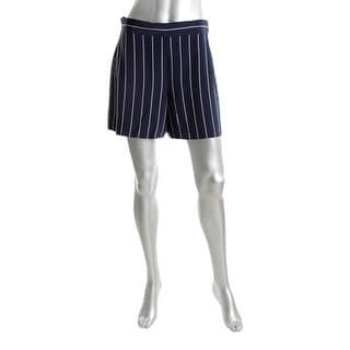 Polo Ralph Lauren Womens Dress Shorts Silk Striped Navy 2