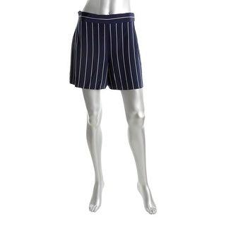 Polo Ralph Lauren Womens Dress Shorts Silk Striped Navy 4